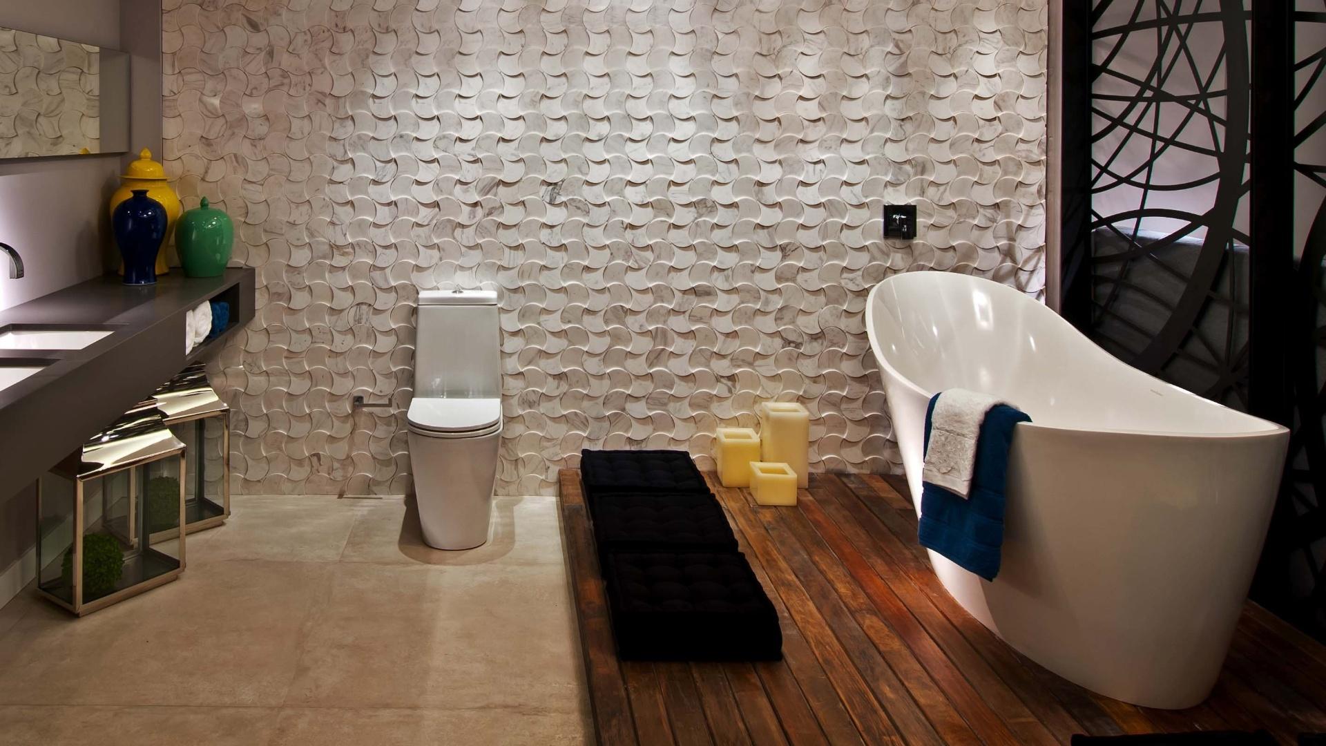 no detalhe o banheiro da suite master ambiente de autoria dos  #A27729 1920 1080